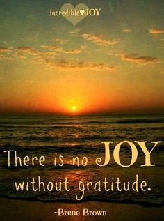No joy without gratitude quote - check out Brene Brown on TED Talks. Joy Quotes, Gratitude Quotes, Attitude Of Gratitude, Positive Quotes, Great Quotes, Grateful Quotes, Life Quotes, Happiness Quotes, Jesus Quotes