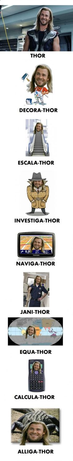 Funny pictures about Thor. Thor Everywhere. Oh, and cool pics about Thor. Thor Everywhere. Also, Thor. Thor Everywhere. Marvel Jokes, Funny Marvel Memes, Dc Memes, Avengers Memes, Marvel Avengers, Funny Jokes, Funny Geek, Memes Humor, Inappropriate Memes