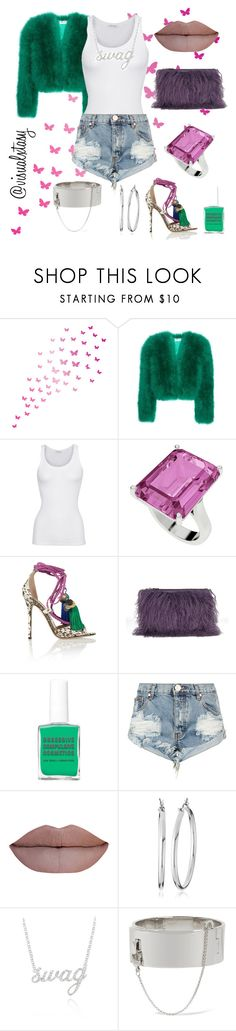 """Ratchet Swag"" by visualxtasy ❤ liked on Polyvore featuring Yves Saint Laurent, American Vintage, StyleRocks, Jimmy Choo, House of Holland, Obsessive Compulsive Cosmetics, One Teaspoon, Nine West, Belk & Co. and Eddie Borgo"