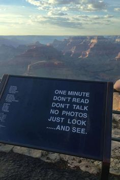 One minute, don't talk, no photos, just look... and see.
