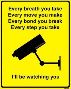 """Big Brother is Watching You; this is TRUTH...the ABSURDITY is that so many do not know or want to believe this...amazing!!! (ever watch """"Person of Interest""""? with Jim Caviezel? one of my favorite shows)"""