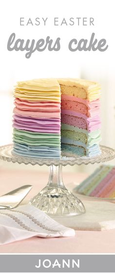 Each and every pastel layer of this Easy Easter Layers Cake is full of spring inspiration! If you're looking for the ideal dessert recipe to serve at your holiday dinner, make sure to check out this treat from JOANN.