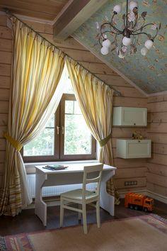 шторы на окне в форме трапеции