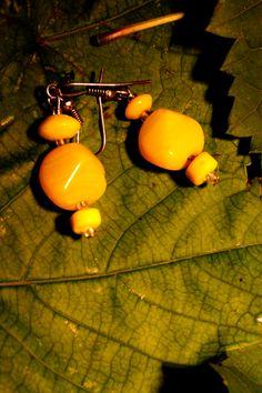 Gorgeous yellow earrings from O.Squared Jewelry