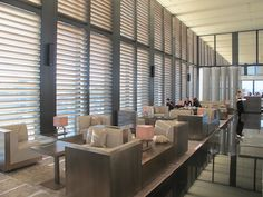 Elegant lines, the bar at the Armani Hotel Milan _
