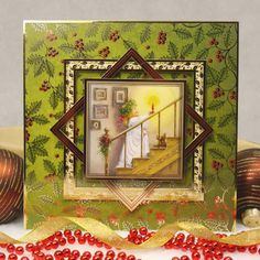 Traditional Christmas by Hunkydory Crafts. Card made using 'Time for Bed' topper set. Part of the 2014 Christmas Craftinator Collection