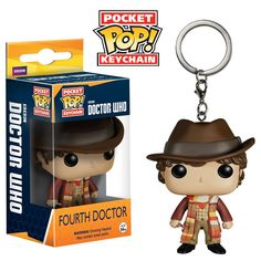 Doctor Who Pocket POP Fourth Doctor Vinyl Figure Keychain. HAVE THIS ONE