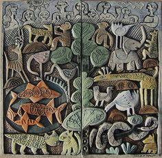>>>>Zoo - ceramic relief by Hilke MacIntyre..Amazing work..does…