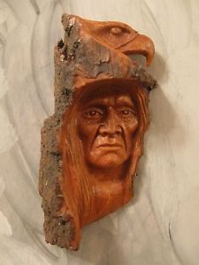 Native American Indian Wood Carvings | Wood Carving Wood Spirit Native American Indian Wind Spirit | eBay