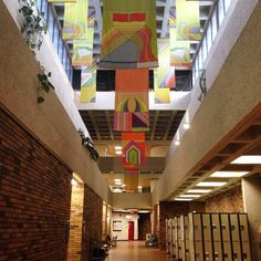 Inside the Humanities Building at the University of Alberta (Edmonton, AB, Canada)