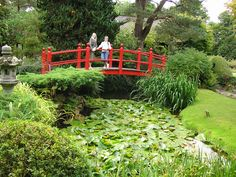 The Bridge of Life in the Japanese Gardens at Tully, created between the years 1906–1910 and within the Irish National Stud in County Kildare, Ireland.