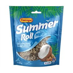 Buy Europe: Summer Roll Minis at Mighty Ape NZ Take nougat, lightly roasted peanuts, coconut flakes and wrap it all in dreamy milk chocolate and you have something delicious – but now pass it throu. Cadbury Chocolate Bars, Summer Rolls, Roasted Peanuts, Minis, Coconut, Europe, Room Ideas, Box, Boxes
