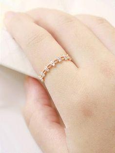 Greek Golden Leaf Crown AD Ring #Ring