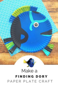 Make a Finding Dory Paper Plate Craft- This is a great idea for your Finding Dory birthday party!