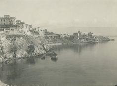 Phaleron, a city built on cliffs along the shores of Phaleron Bay. 1900s. Location: Phaleron, Attica, Greece. Photographer: FRED BOISSONNAS/National Geographic Creative