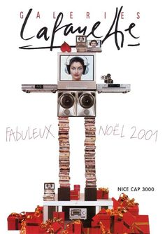 ru_glamour: Jean Paul Goude & Laetitia Casta for Galleries Lafayette. Jean Paul Goude, Best Caps, Laetitia Casta, Design Graphique, Typography Prints, Photos, Graphic Design, Paris, Fashion Brands