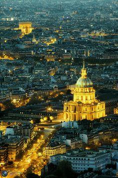 Hôtel des Invalides & Arc de Triomphe, Paris.