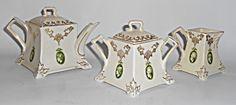 Roseville Pottery Early Medallion 3 Pc Tea Set