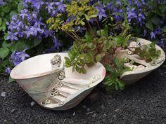 PflanzSchale BlumenTopf Handarbeit KeramikSchale von Elfenflüstern ® auf DaWanda.com