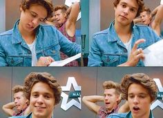 Just thinking how sweet Brad looks and then u see James behind him...