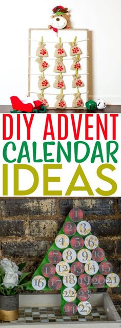 Do you put up an Advent calendar in your home each year? For some of us, the custom of the Advent calendar consists of those ones with the little doors. You open one each day and inside is a piece of chocolate. Fun! But there are lots of different ways to use Advent calendars and we have some DIY Advent Calendar Ideas to share with you today! Christmas Crafts For Kids, Crafts For Teens, Simple Christmas, Diy For Kids, Christmas Ideas, Christmas Decorations, Wood Advent Calendar, Diy Advent Calendar, Calendar Ideas