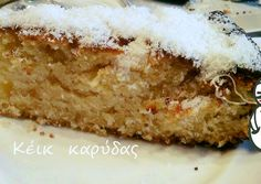 κύρια φωτογραφία συνταγής Αφράτο κέικ καρύδας με πορτοκάλι Healthy Sweets, Vanilla Cake, Wedding Cakes, Xmas, Desserts, Food, Kuchen, Sheet Metal, Wedding Gown Cakes