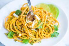 Creamy Avocado Sweet Potato Noodles Recipe
