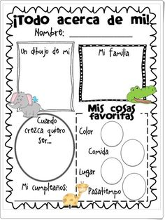 The Second Grade Superkids: Made It and a Freebie! Spanish Classroom Activities, Spanish Teaching Resources, Counseling Activities, Spanish Worksheets, Worksheets For Kids, Therapy Activities, Learning Activities, Kids Learning, Spanish Songs