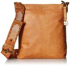 Women's Cross-Body Handbags - Lucky Brand Farrah Top Zip Xbody Tobacco ** Visit the image link more details.