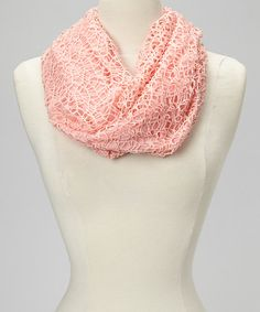 Coral Lace Infinity Scarf