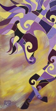 THe Tao of BEing Complementary Horse Painting - Art Prints starting at $24.95
