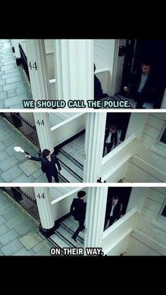 Love Sherlock haha ~ tv show funny Sherlock Holmes John Watson Benedict Cumberbatch Martin Freeman ~ Sherlock Fandom, Sherlock Bbc, Watch Sherlock, Sherlock Quotes, Funny Sherlock, Jim Moriarty, Sherlock Tattoo, Sherlock Bored, Johnlock