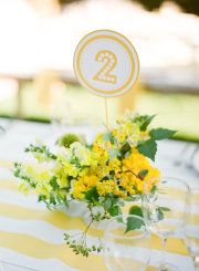 Table markers! Love the tablecloth too!
