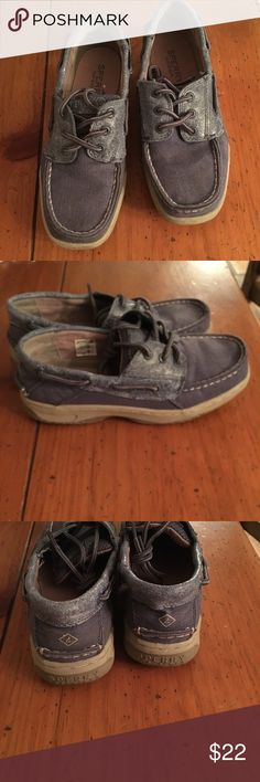 Sperry Topsider Boat Shoes Like new! I bought these for me son, forgot about them, and now they're too small. #genius Sperry Shoes Moccasins