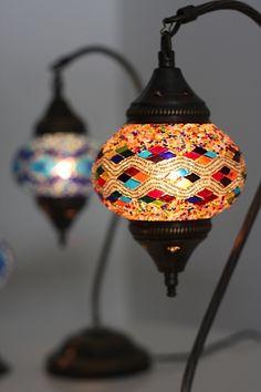 Magical Handmade Turkish Mosaic Lamp, by Byzantium