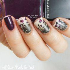 gothic nails   ... Challenge: Day 8, Boutique: Gothic Floral With Illamasqua Gothiqua