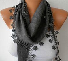 gray scarf etsy $13.50