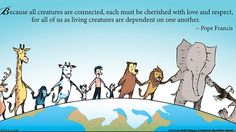 "This is an image from the comic strip""Mutts,"" which is created by Patrick McDonnell and appears in 700 newspapers. McDonnel used the week of Sept. 21, the week of Pope Francis' U.S. visit, to feature seven quotations from the pontiff's encyclical ""Laudato Si'."" Photo: CNS/courtesy King Features Syndicate, a unit of Hearst Corporation"