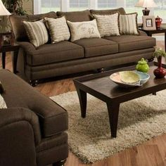 I like this couch with the burlap pillows.