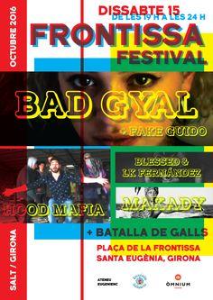 Cartell per l'actuació de Bad Gyal.