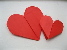 Origami Paper Heart Wedding Card