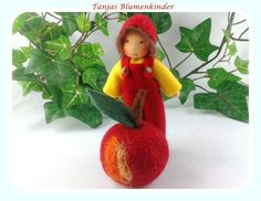 Apfel, Blumenkind Jahreszeitentisch von Tanjas Blumenkinder auf DaWanda.com