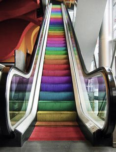 Rainbow in a shopping mall.