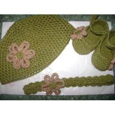 zapatitos gorro y banda para bebe tejidos a crochet 19xys1 zapatos