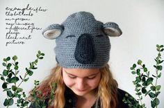Koala Costume, Bear Costume, Costume Hats, Baby Alpaca, Alpaca Wool, Knitted Hats, Crochet Hats, Funny Hats, Animal Hats