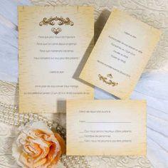 Modèle Simple Faire Part Mariage Poche Style Jaune Elégant