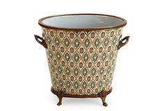 Porcelain and brass planter castilian trading  $99.