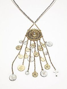 Free People Dripping Coin Pendant