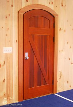 Arched entry door
