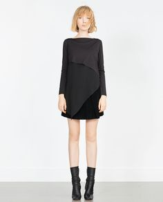 COMBINED ASYMMETRIC TOP-Long Sleeve-T-shirts-WOMAN | ZARA United States